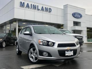 Used 2015 Chevrolet Sonic LT Auto LOCAL BC, SUNROOF, HEATED SEATS, BACKUP CAMERA for sale in Surrey, BC