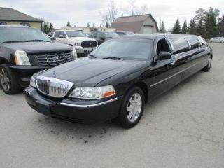 Used 2011 Lincoln Town Car PEOPLE MOVING EXECUTIVE-MODEL 10 PASSENGER 4.6L - V8.. LEATHER.. IN-SEATING BAR.. POWER PARTITION.. POWER PEDALS.. DUAL TV SCREENS.. for sale in Bradford, ON