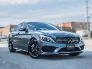 Used 2017 Mercedes-Benz C-Class AMG C 43 I Premium LED I Loaded I Grey on Red for sale in Toronto, ON
