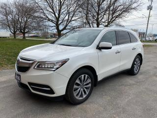Used 2016 Acura MDX TechPkg/LaneAssist/DVD/Navigation for sale in Brampton, ON