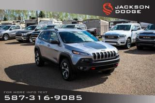 Used 2017 Jeep Cherokee Trailhawk - NAV, Leather, Remote Start for sale in Medicine Hat, AB