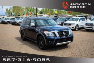 Used 2017 Nissan Armada Platinum Edition - NAV, Sunroof, Leather for sale in Medicine Hat, AB