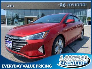 Used 2020 Hyundai Elantra Preferred w/Sun & Safety pkg - 1 owner / Low kms! for sale in Port Hope, ON
