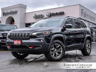 Used 2019 Jeep Cherokee Trailhawk 4x4 l HEATED LEATHER l BLINDSPOT l NAV l for sale in Burlington, ON