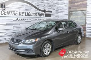 Used 2013 Honda Civic LX+GR/ELEC+A/C+BLUETOOTH for sale in Laval, QC