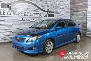 Used 2010 Toyota Corolla S+TOIT+MAGS+A/C for sale in Laval, QC