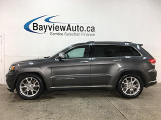 Used 2014 Jeep Grand Cherokee Summit - 4X4! PANOROOF! HTD/COOLED LTHR! + MUCH MORE! for sale in Belleville, ON