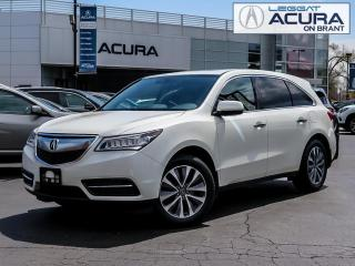 Used 2016 Acura MDX Navigation Package NAVI | 1OWNER | NOACCIDENTS | HITCH | 7PASS | AWD for sale in Burlington, ON