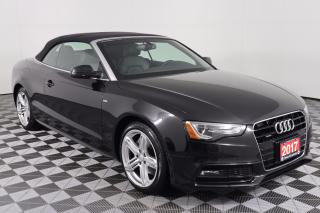 Used 2017 Audi A5 2.0T Technik TECHNIK, CONVERTIBLE, 2.0L TURBOCHARGED 4CYL, AUTO, AWD, NAVI, BACK-UP CAM, LEATHER, HEATED SEATS for sale in Huntsville, ON