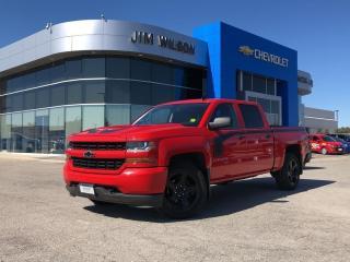 Used 2018 Chevrolet Silverado 1500 Silverado Custom 4X4 5.3L V8 RALLY 1 PKG REAR CAMERA 20 WHEELS for sale in Orillia, ON