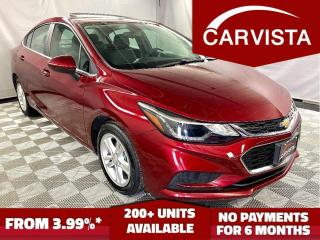 Used 2016 Chevrolet Cruze LT - LOCAL VEHICLE/NO ACCIDENTS/FACTORY WARRANTY - for sale in Winnipeg, MB