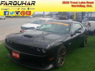 Used 2018 Dodge Challenger SRT 392 - Navigation -  Leather Seats - $313 B/W for sale in North Bay, ON