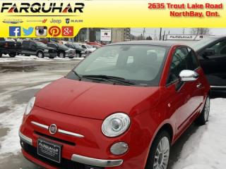 Used 2017 Fiat 500 Lounge - Leather Seats - $101 B/W for sale in North Bay, ON