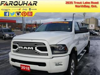 Used 2018 RAM 3500 Laramie - Leather Seats -  Bluetooth - $439 B/W for sale in North Bay, ON