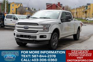 Used 2018 Ford F-150 Lariat Longbox, 3.5L Ecoboost, Heated 2nd Row, Sync Connect, Sport Pack for sale in Okotoks, AB