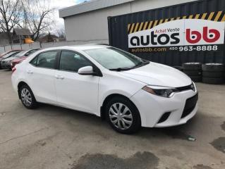 Used 2015 Toyota Corolla Berline 4 portes, boîte manuelle, CE for sale in Laval, QC