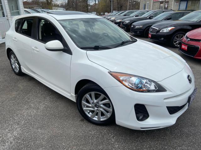 2013 Mazda MAZDA3 AUTO/ LEATHER/ SUNROOF/ NAVI/ UKLTRA LOW MILEAGE!!