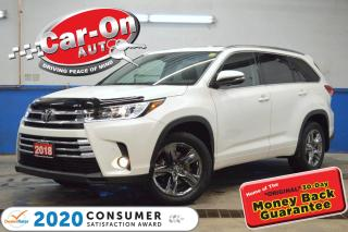 Used 2018 Toyota Highlander Limited AWD LEATHER NAV PANO ROOF REAR CAM ADAPTIV for sale in Ottawa, ON