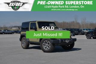 Used 2013 Jeep Wrangler Rubicon - Low Mileage, Well Maintained for sale in London, ON