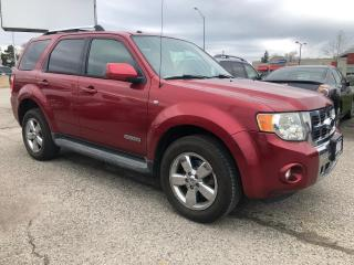 Used 2008 Ford Escape Limited, LEATHER, SUNROOF, 3 YR WARRANTY, CERTIFIE for sale in Woodbridge, ON