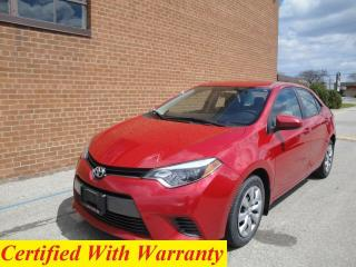 Used 2015 Toyota Corolla LE/NO ACCIDENTS for sale in Oakville, ON