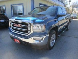 Used 2018 GMC Sierra 1500 LIKE NEW SLT EDITION 5 PASSENGER 5.3L - VORTEC.. 4X4.. CREW-CAB.. SHORTY.. NAVIGATION.. LEATHER.. HEATED SEATS.. BACK-UP CAMERA.. POWER SUNROOF.. for sale in Bradford, ON