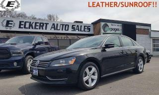 Used 2015 Volkswagen Passat Comfortline/LEATHER/SUNROOF!! for sale in Barrie, ON