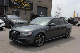 Used 2014 Audi A4 S-LINE,MANUAL,PRESTIGE,quattro,NAVIGATION,BLACK EDITION for sale in Newmarket, ON