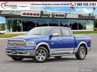 Used 2016 RAM 1500 Crew Cab 4x4 Laramie (140.5 WB - 5.7 Box) for sale in Cornwall, ON