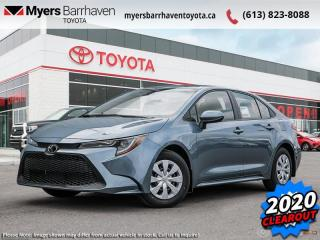 New 2020 Toyota Corolla L CVT  -  Apple CarPlay - $140 B/W for sale in Ottawa, ON