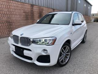 Used 2015 BMW X3 xDRIVE28d-DIESEL-M SPORT-NAVI-CAMERA-PANO ROOF for sale in Toronto, ON
