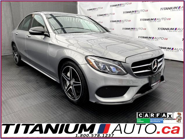 2016 Mercedes-Benz C-Class Night & AMG Sport PKG+GPS+Camera+Pano+Blind Spot+
