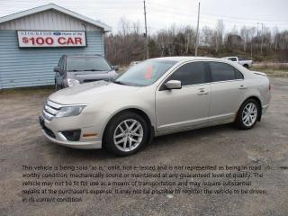Used 2010 Ford Fusion SEL for sale in North Bay, ON