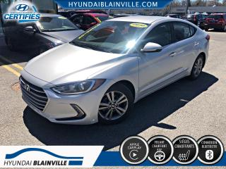 Used 2018 Hyundai Elantra GL APPLE CARPLAY, VOLANT CHAUF, BLUETOOT for sale in Blainville, QC