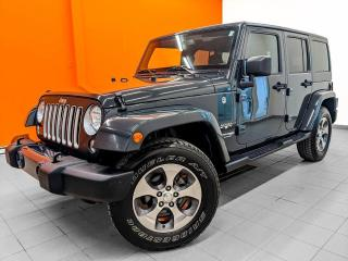 Used 2018 Jeep Wrangler SAHARA 4X4 NAVIGATION *BAS KILOMÉTRAGE* for sale in St-Jérôme, QC