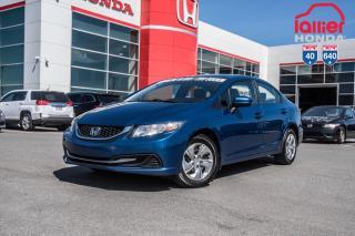Used 2015 Honda Civic LX p5033  BLEU for sale in Terrebonne, QC