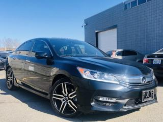 Used 2017 Honda Accord Sedan |SPORT|LANE WATCH CAM|SUNROOF|LANE ASIST|HEATED SEATS|ALLOYS for sale in Brampton, ON