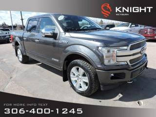 Used 2018 Ford F-150 Platinum | 3.0L Diesel | Local Trade | Full Load | Heated and Cooled Seats for sale in Weyburn, SK