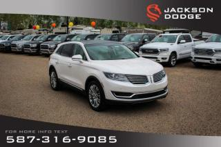 Used 2018 Lincoln MKX Reserve - AWD, Panoramic Sunroof, NAV for sale in Medicine Hat, AB