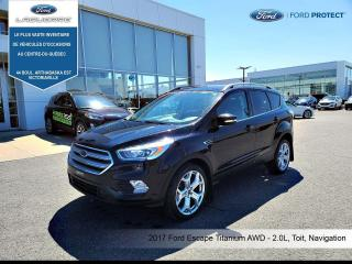 Used 2017 Ford Escape 4WD  Titanium, Cuir,Toit,Nav for sale in Victoriaville, QC