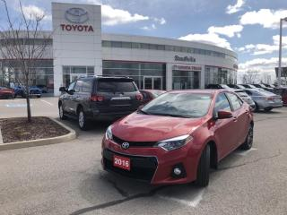 Used 2016 Toyota Corolla S Upgrade Package - NO ACCIDENTS - POWER MOONROOF - BACKUP CAMERA for sale in Stouffville, ON