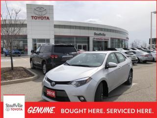 Used 2016 Toyota Corolla LE UPGRADE PACKAGE - ONE OWNER - TOYOTA CERTIFIED for sale in Stouffville, ON