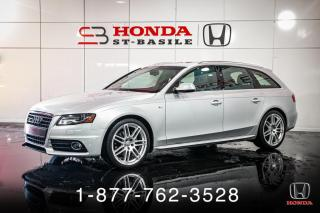 Used 2012 Audi A4 S-LINE + PANO + WAGON + AWD + WOW! for sale in St-Basile-le-Grand, QC