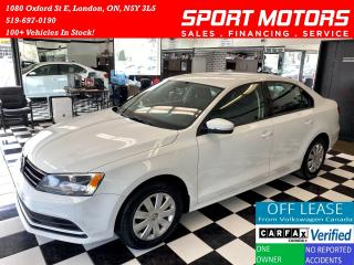Used 2015 Volkswagen Jetta Trendline+Camera+New Tires+HTD Seats+Accident Free for sale in London, ON