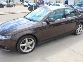 Used 2011 Audi A4 PREMIUM PLUS 2.0T/LEATHER/SUNROOF/NAV for sale in Edmonton, AB