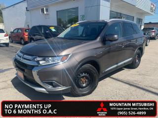 Used 2017 Mitsubishi Outlander ES  +LEATHER+SUNROOF+3RD ROW for sale in Hamilton, ON