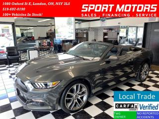 Used 2017 Ford Mustang GT+GPS+Brembos+Convertible+Blind Spot+Cooled Seats for sale in London, ON