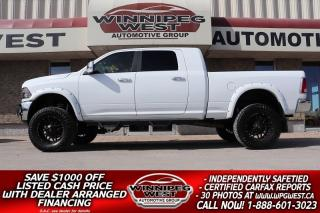 Used 2017 RAM 2500 HUGE LIFTED MEGA CAB LARAMIE 6.7 CUMMINS 4X4 NICE! for sale in Headingley, MB