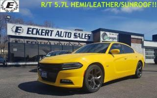 Used 2017 Dodge Charger R/T/5.7L HEMI/LEATHER/NAVIGATION!! for sale in Barrie, ON