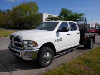 Used 2014 RAM 3500 Flat Deck 9 foot Crew Cab LWB 4WD Dually Diesel for sale in Burnaby, BC